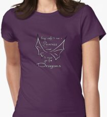 Rescue you from dragons Womens Fitted T-Shirt