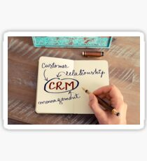 Motivational concept with handwritten text CRM as CUSTOMER RELATIONSHIP MANAGEMENT Sticker