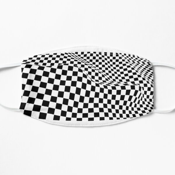 Checkered Black and White wave Mask