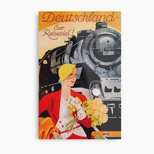 Art Deco Travel by Train, Berlin 1927  Metal Print