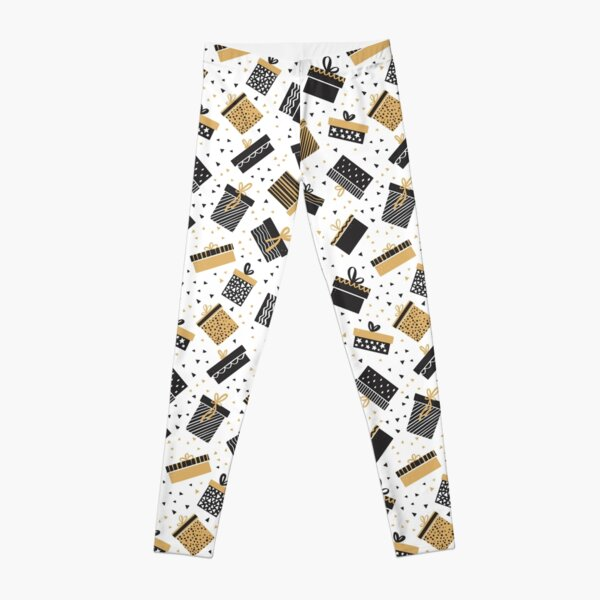 Merry Christmas pattern, gifts design ideas Leggings