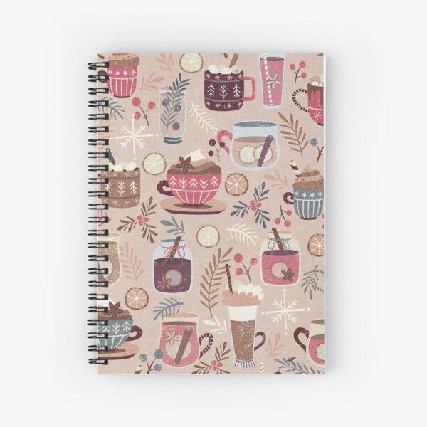 Festive Beverages Spiral Notebook