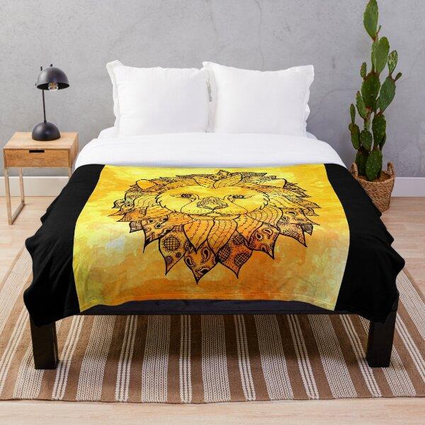 Lion Zentangle Throw Blanket