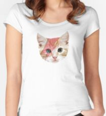 Bowie Cat Women's Fitted Scoop T-Shirt