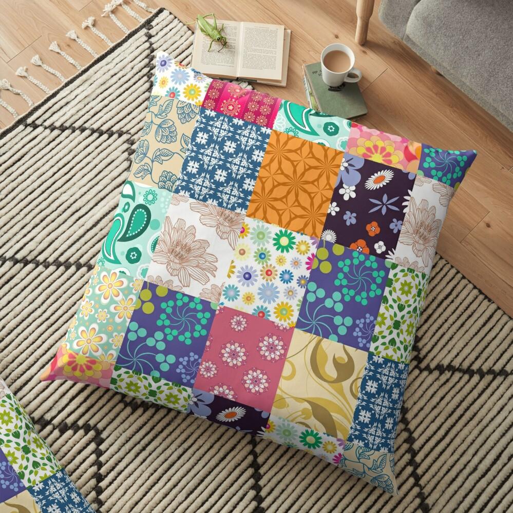 Bloom Patchwork Floor Pillow