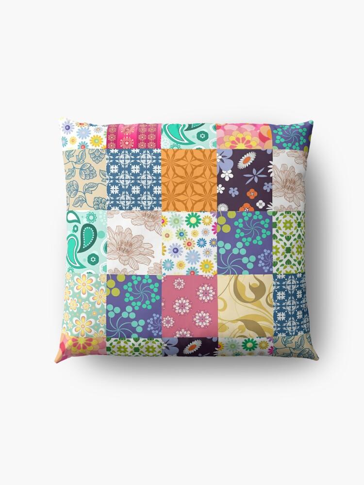 Alternate view of Bloom Patchwork Floor Pillow
