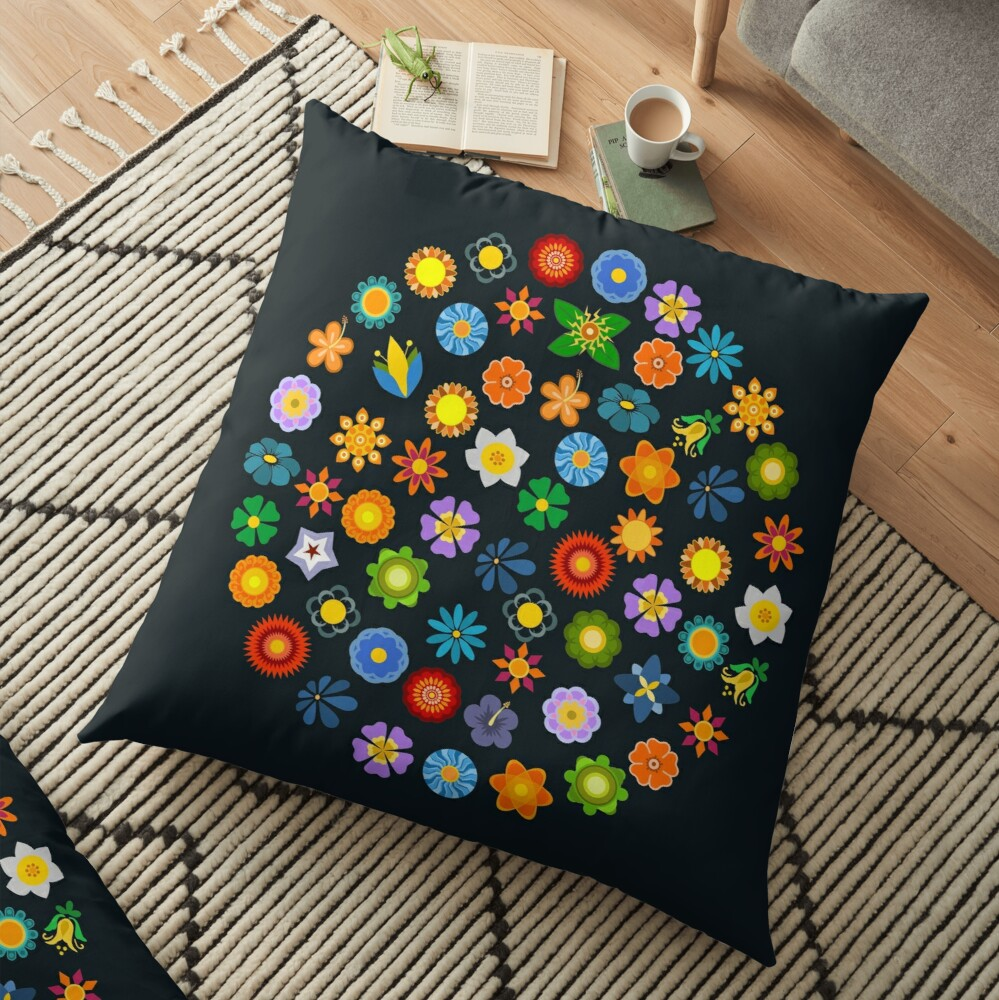 Dizzy Daisies Floor Pillow