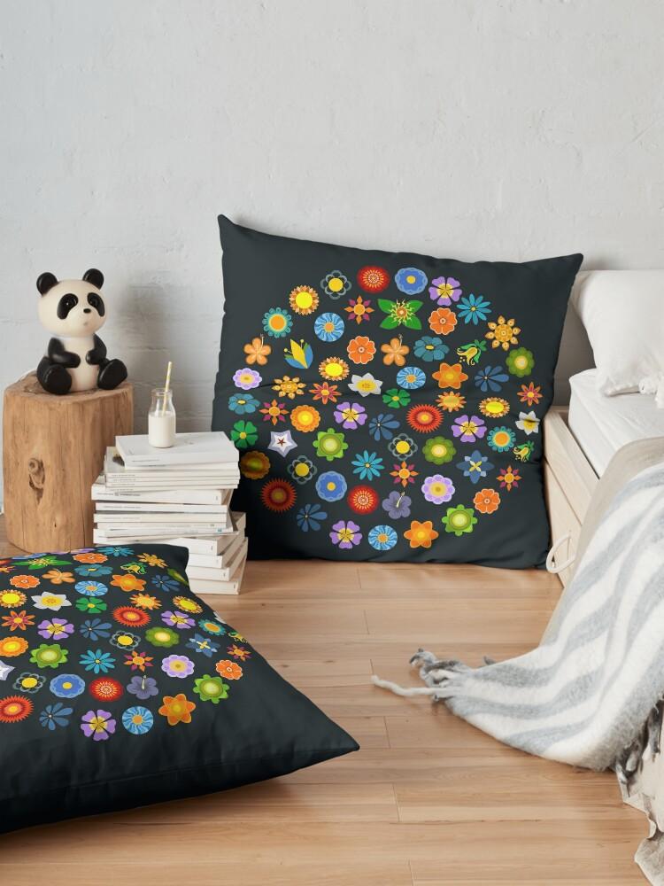 Alternate view of Dizzy Daisies Floor Pillow