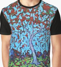 'Tree With Red Leaves' Graphic T-Shirt