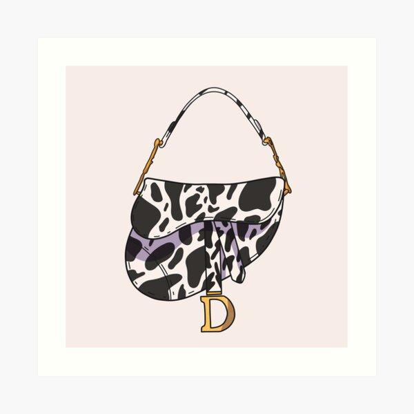 Y2k Cow Print Saddle Handbag Art Print