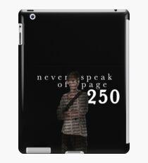 NEVER SPEAK OF PAGE 250 - THE MAZE RUNNER iPad Case/Skin