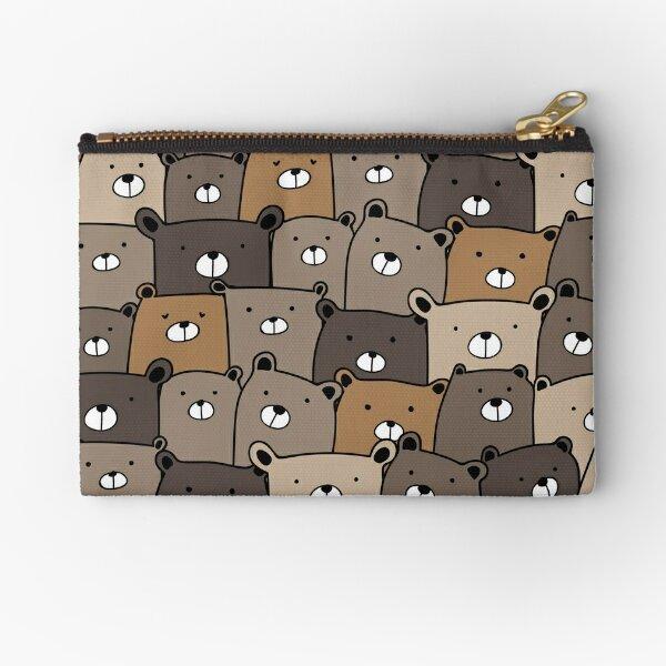 Bears pattern, Cute Bear  Zipper Pouch