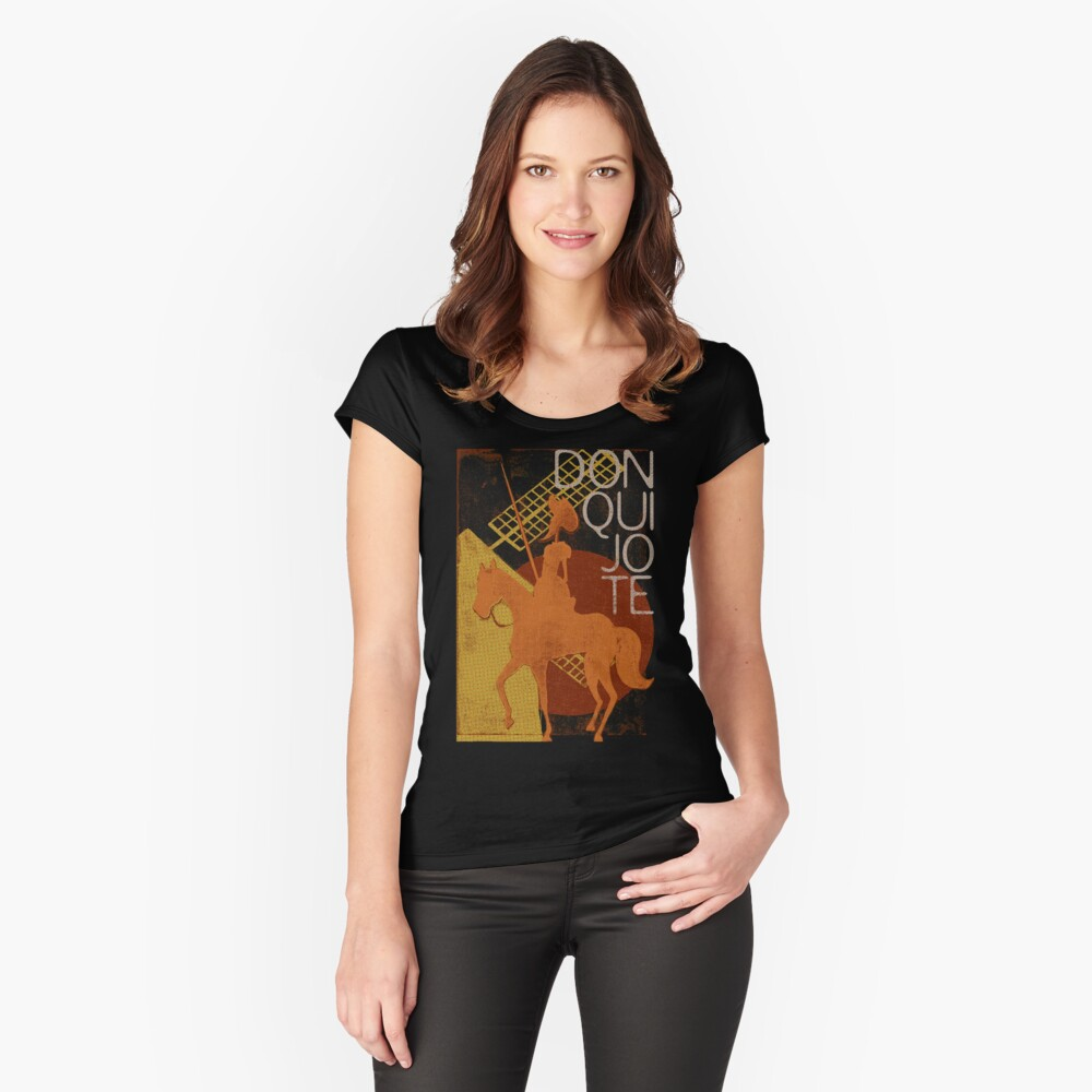 Books Collection: Don Quixote Fitted Scoop T-Shirt