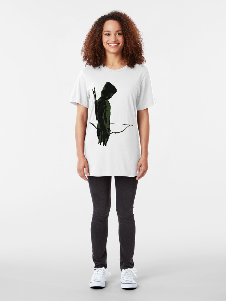 Alternate view of Green Archer with Arrow Slim Fit T-Shirt