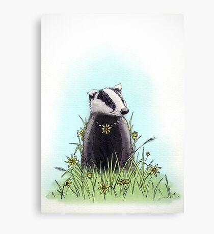 Daisy's Badger Canvas Print