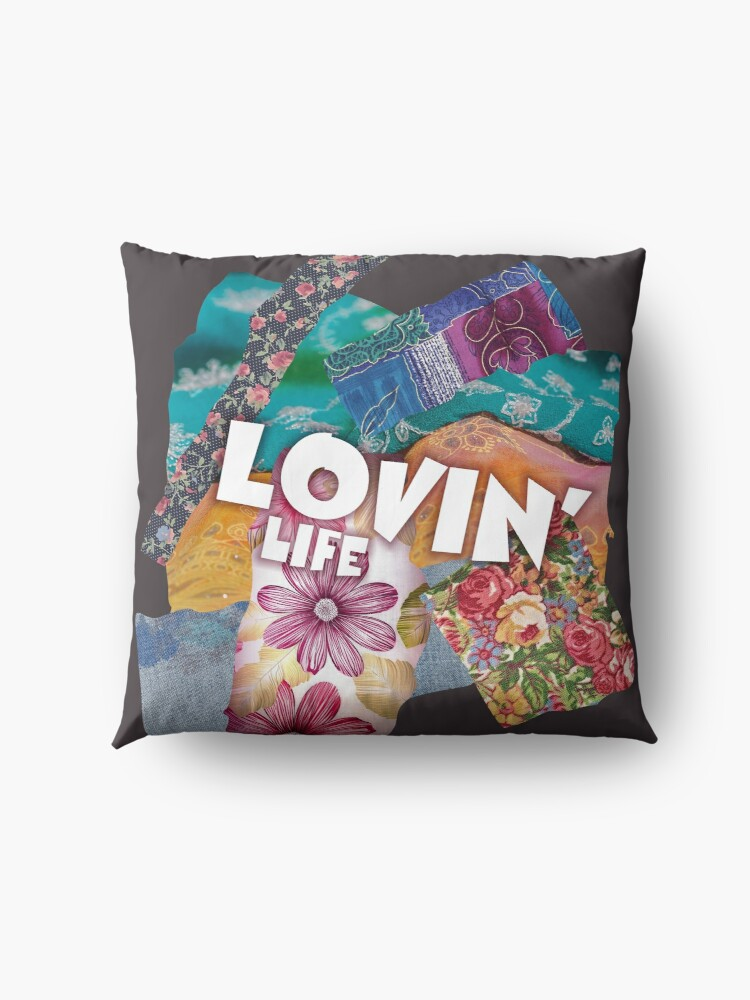 Alternate view of Lovin' Life Patchwork Floor Pillow