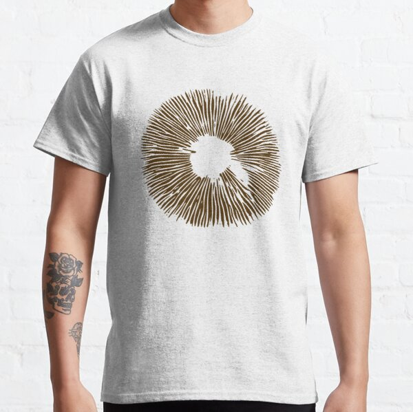 Mycology Mushroom Spore Print Stencil Classic T-Shirt