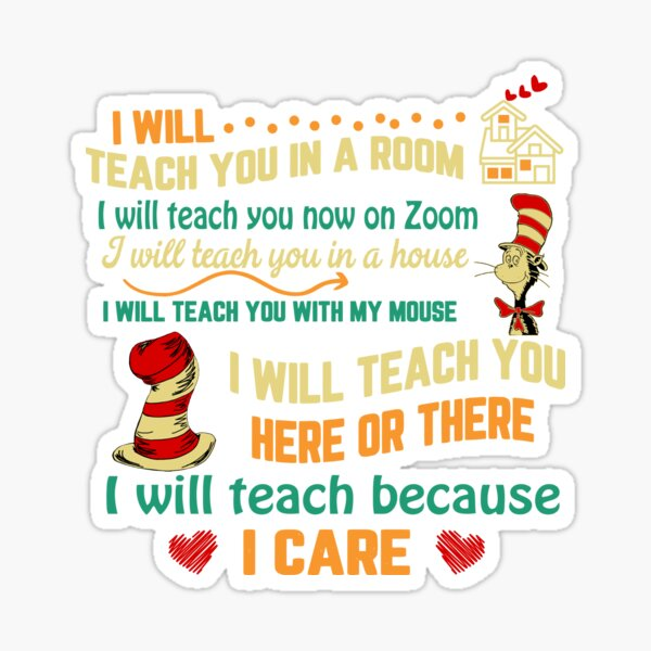 I Will Teach You Now On Zoom  | Funny Quarantine Teacher Sticker