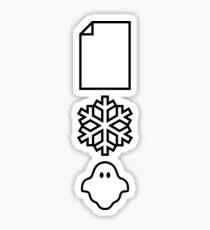 Paper... Snow... A ghost! Sticker