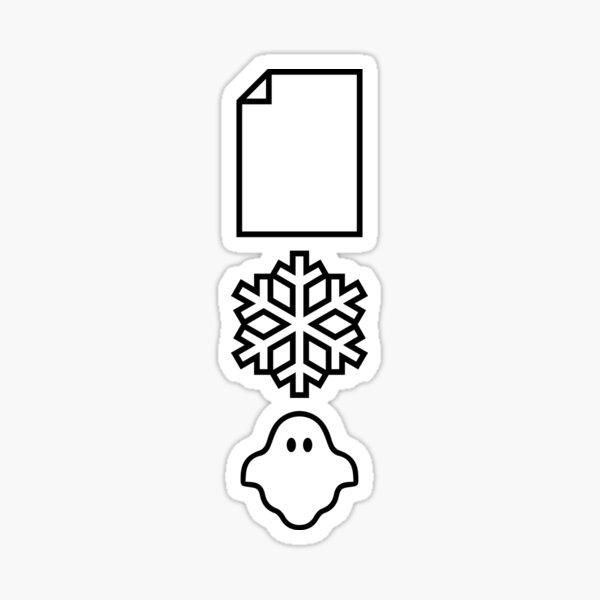 Papier ... Schnee ... Ein Geist! Sticker