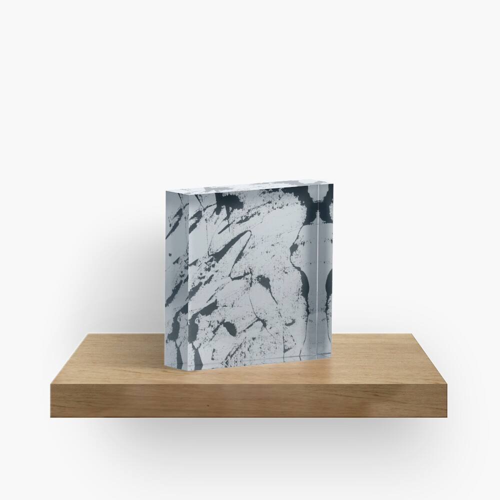 Black and White Abstract Lines Acrylic Block