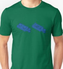 The Lego Bright Blue Plate 2X1 W-Holder, Vertical Unisex T-Shirt
