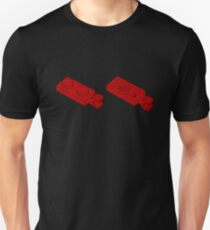 The Lego Bright Red Plate 2X1 W-Holder, Vertical Unisex T-Shirt