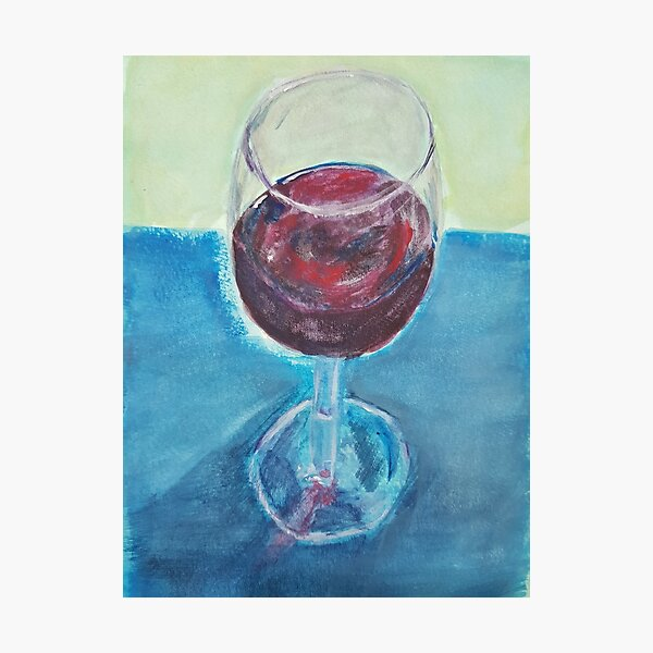 A Cheeky Glass of Wine Photographic Print