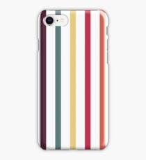 Fallen Leaf Stripe Pattern iPhone Case/Skin