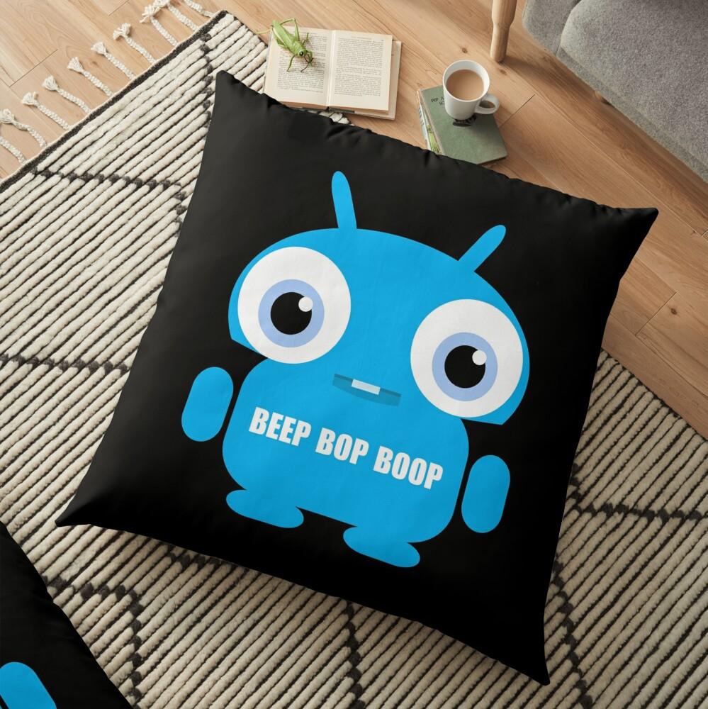 Beep Bop Boop Floor Pillow