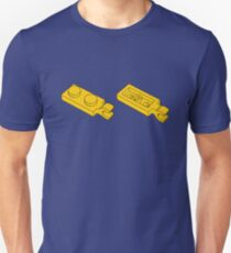 The Lego Bright Yellow Plate 2X1 W-Holder, Vertical Unisex T-Shirt