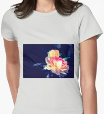 Roses with a splash of colour Womens Fitted T-Shirt