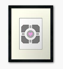 Portal Companion Cube Framed Print