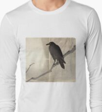 Crow On A Willow Branch - anon - c1880 Long Sleeve T-Shirt