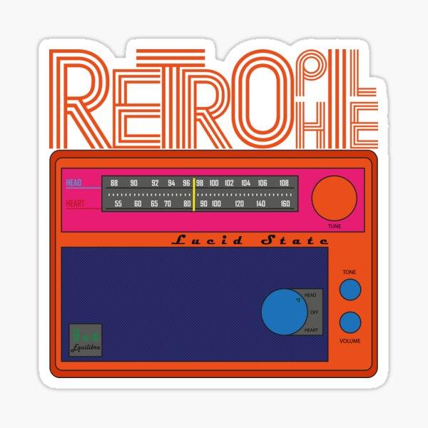 Retrophile radio pop art Sticker