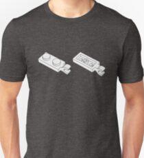 The Lego White Plate 2X1 W-Holder, Vertical Unisex T-Shirt
