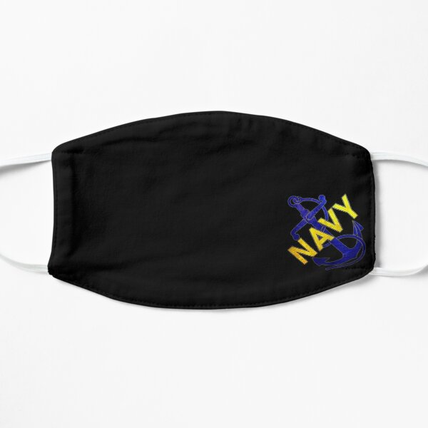 NAVY ANCHOR (Yellow and Blue Distressed) Mask