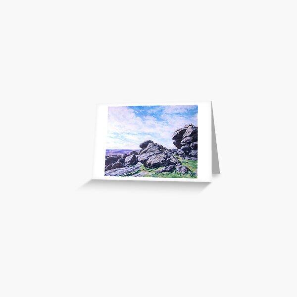 Hound Tor, Dartmoor Greeting Card