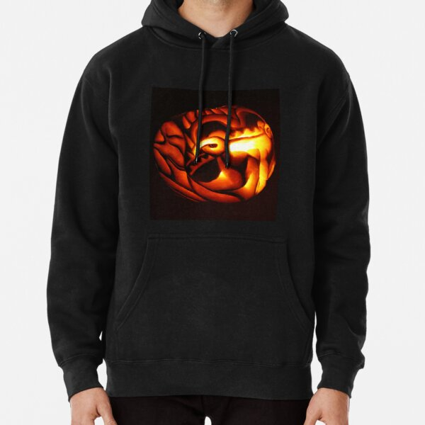Behold the Great Red Dragon Pumpkin Carving Pullover Hoodie