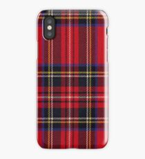 Red Tartan Fabric Design iPhone Case/Skin