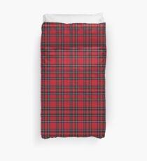 Roter Tartan Stoff Design Bettbezug