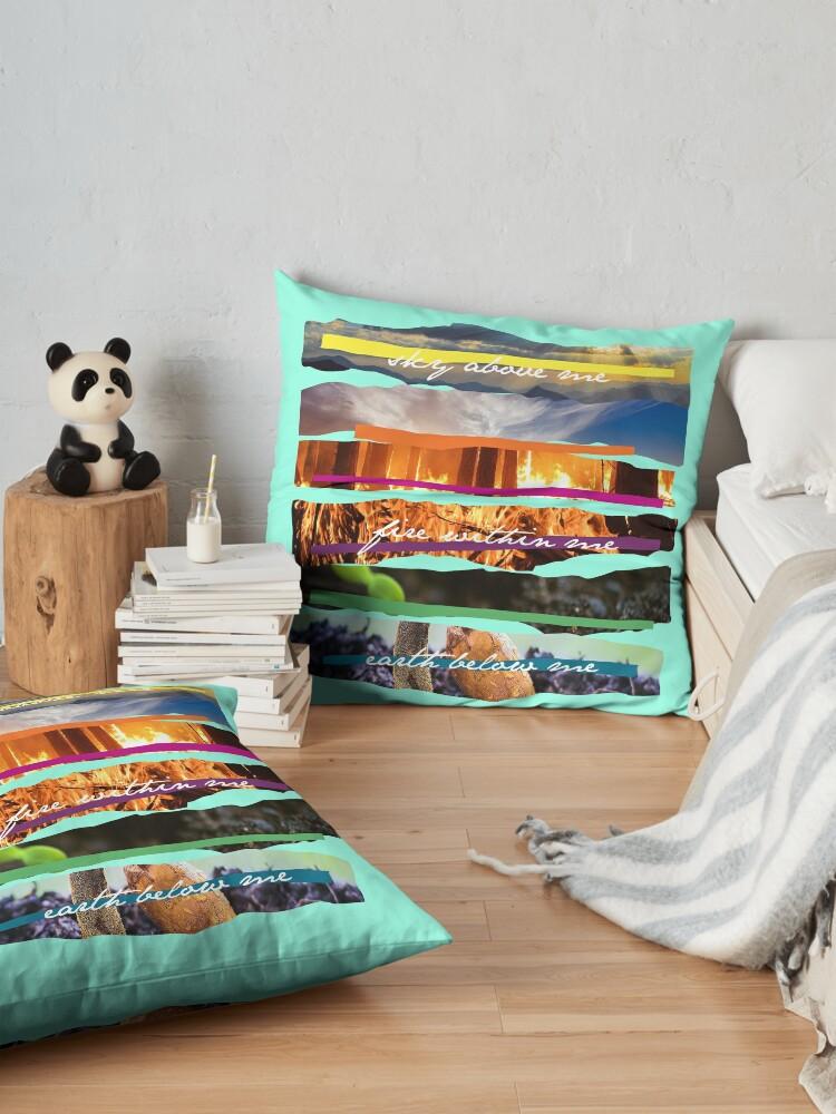 Alternate view of Elements Patchwork Floor Pillow