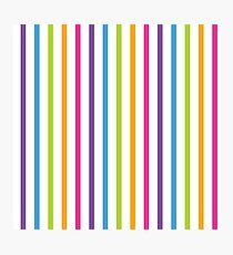 Bright Hue Stripe Pattern Photographic Print