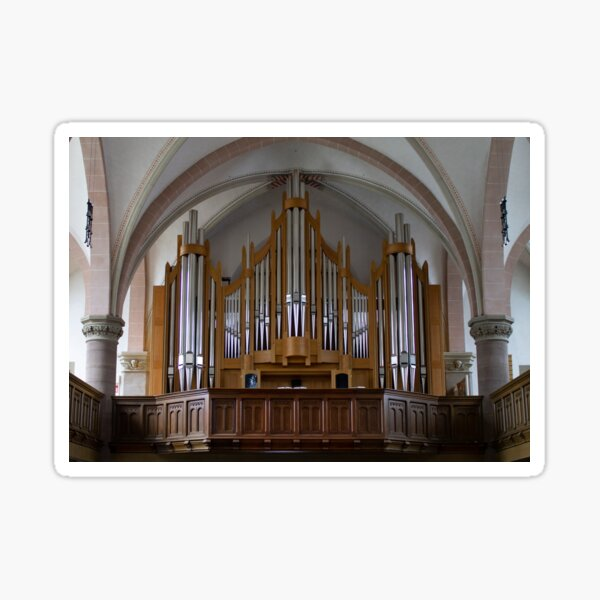 Orgel Martin Luther Kirche, Detmold Deutschland Sticker