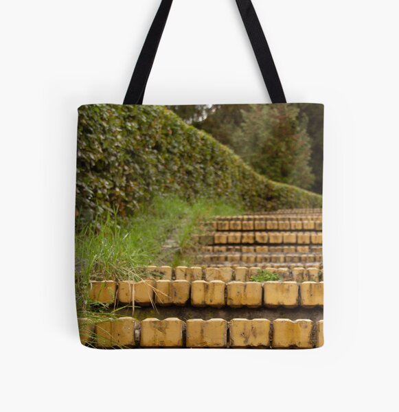 Yellow brick stairs All Over Print Tote Bag