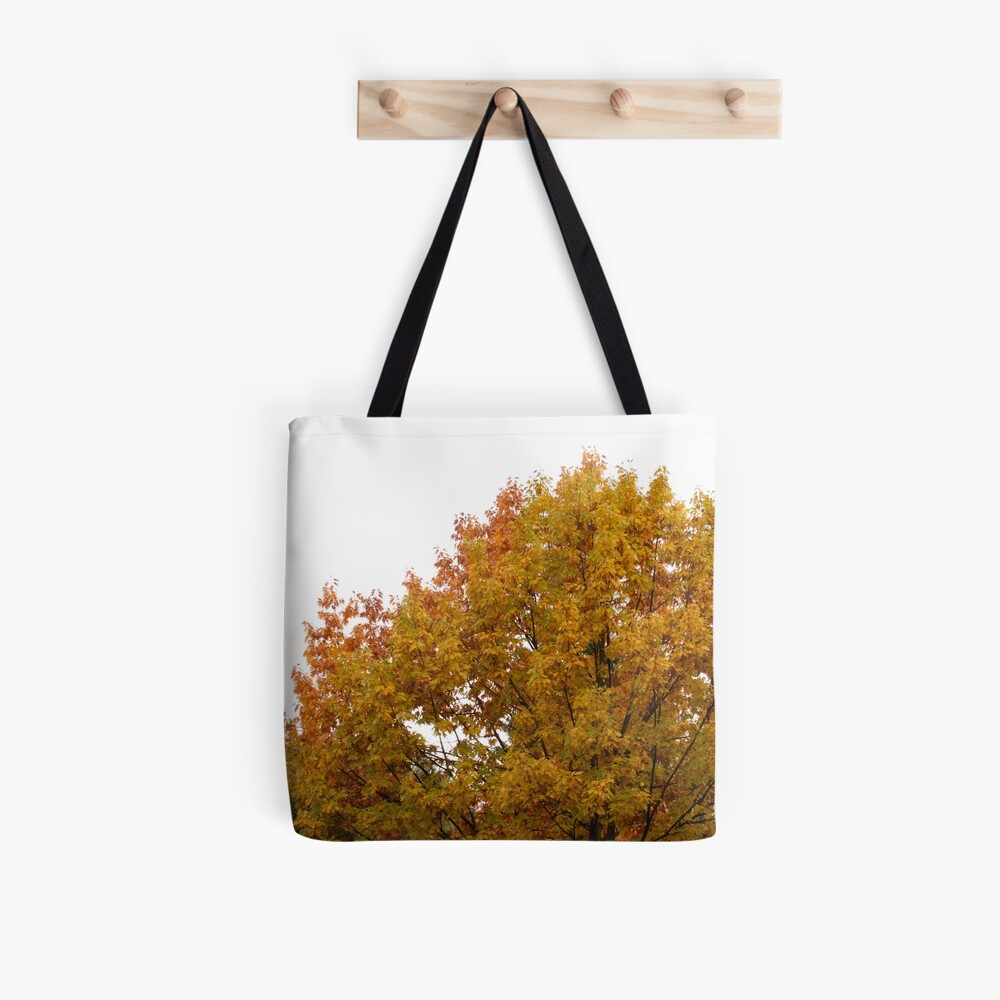Autumn leaves in oranges and reds and greens. Fall colors tree Tote Bag
