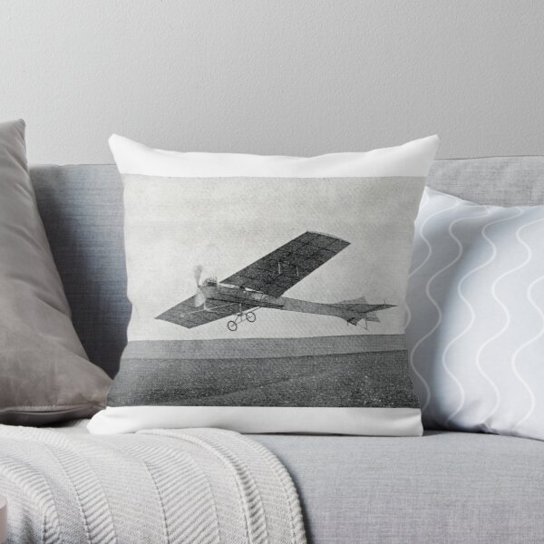 Take flight with this vintage airplane Throw Pillow