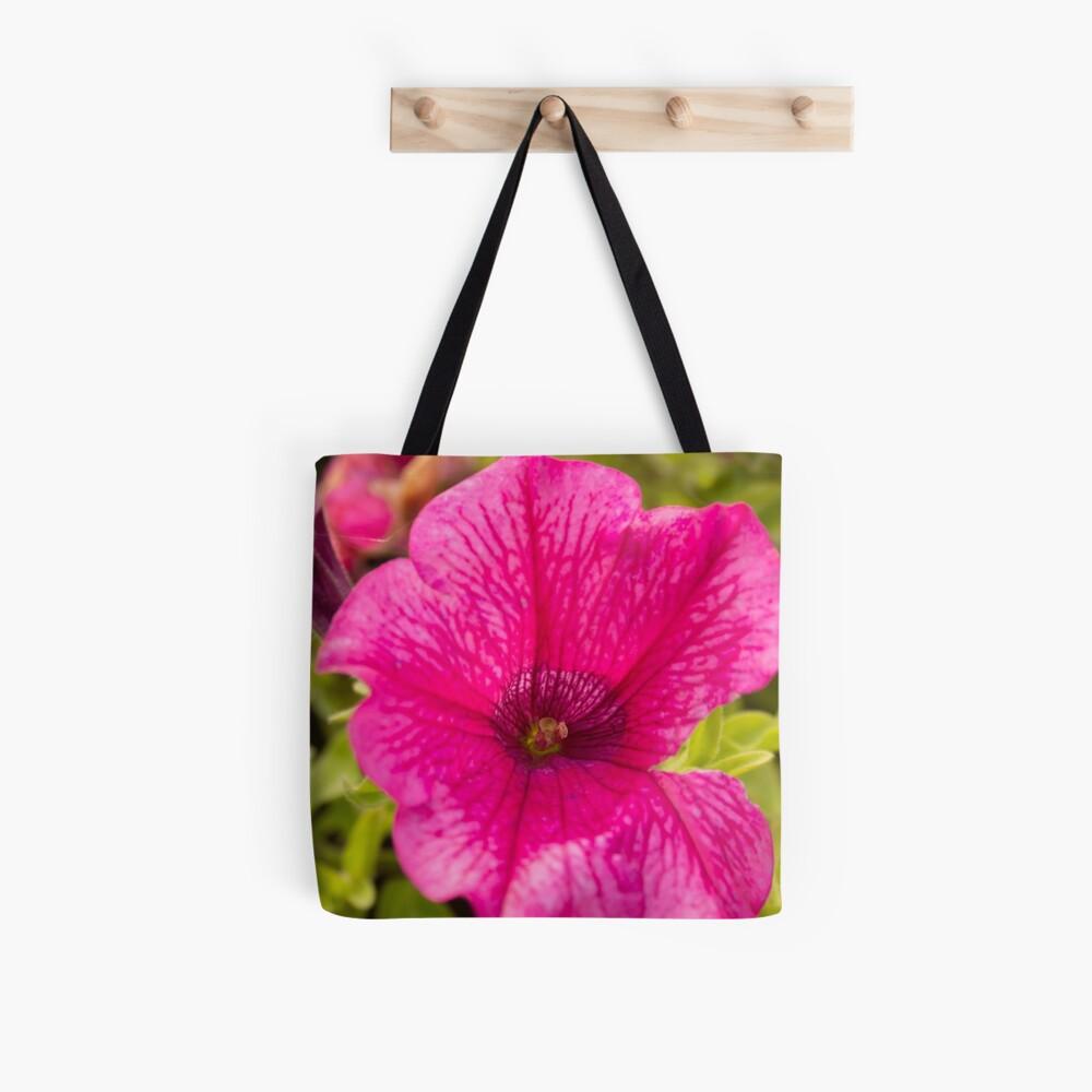 Petunia flower hot pink original photo Tote Bag