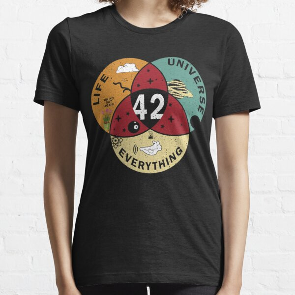 42 Antwort auf das Universum des Lebens und alles Lustige Vintage Geschenkidee T-Shirt Essential T-Shirt