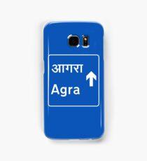 Agra, Road Sign, India Samsung Galaxy Case/Skin